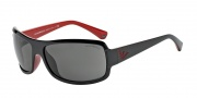 Emporio Armani EA4012 Sunglasses Sunglasses - 506187 Top Black on Red / Grey