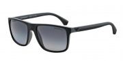 Emporio Armani EA4033 Sunglasses Sunglasses - 5229T3 Black / Grey Rubber / Polarized Grey Gradient