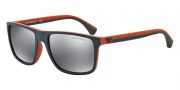 Emporio Armani EA4033 Sunglasses Sunglasses - 52336G Grey / Rubber Orange / Light Grey Mirror Black