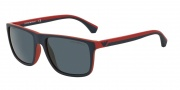 Emporio Armani EA4033 Sunglasses Sunglasses - 532587 Blue / Red Rubber / Grey