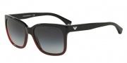 Emporio Armani EA4042F Sunglasses Sunglasses - 53488G Black Gradient Coral on Black / Grey Gradient