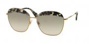 Miu Miu 53QS Sunglasses Sunglasses - DHE3H2 Havana Marble White / Beige Gradient