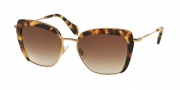 Miu Miu 52QS Sunglasses Sunglasses - 7S00A6 Light Havana / Light Brown Gradient