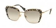 Miu Miu 52QS Sunglasses Sunglasses - DHE3H2 Havana Marble White / Beige Gradient