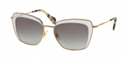 Miu Miu 52QS Sunglasses Sunglasses - TWJ3E2 Opal Lilac / Grey Gradient