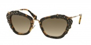 Miu Miu 04QS Sunglasses Sunglasses - 7S03D0 Light Havana / Grey Gradient
