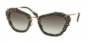 Miu Miu 04QS Sunglasses Sunglasses - DHE0A7 Havana Marble White / Grey Gradient