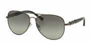 Michael Kors MK1003 Sunglasses Fiji Sunglasses - 100211 Gunmetal / Grey Gradient
