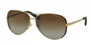 Michael Kors MK5004 Sunglasses Chelsea Sunglasses - 1014T5 Gold / Brown / Brown Gradient Polarized