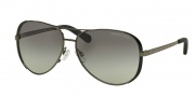 Michael Kors MK5004 Sunglasses Chelsea Sunglasses - 101311 Gunmetal / Black / Grey Gradient