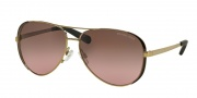 Michael Kors MK5004 Sunglasses Chelsea Sunglasses - 101414 Gold / Brown / Brown Rose Gradient