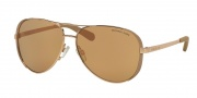 Michael Kors MK5004 Sunglasses Chelsea Sunglasses - 1017R1 Rose Gold / Taupe / Rose Gold Flash