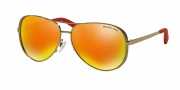 Michael Kors MK5004 Sunglasses Chelsea Sunglasses - 10146Q Gold / Orange Mirror