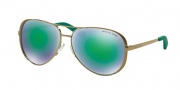 Michael Kors MK5004 Sunglasses Chelsea Sunglasses - 10043R Gold / Green Mirror