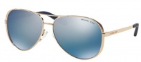 Michael Kors MK5004 Sunglasses Chelsea Sunglasses - 100322 Rose Gold /  Purple Mirror Polarized