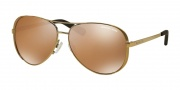 Michael Kors MK5004 Sunglasses Chelsea Sunglasses - 10042T Gold / Gold Mirror Polarized