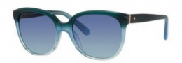 Kate Spade Bayleigh/S Sunglasses Sunglasses - 0JZE Turquoise Oise Fade (AB navy turquoise lens)