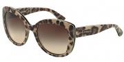Dolce & Gabbana DG4233 Sunglasses Sunglasses - 287013 Top Leo on Leo / Brown Gradient
