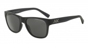 Armani Exchange AX4008 Sunglasses Sunglasses - 802087 Matte Black Transparent / Grey Solid