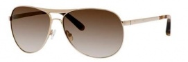 Bobbi Brown The Natalie/S Sunglasses Sunglasses - 03YG Light Gold (Y6 brown gradient lens)