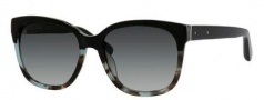 Bobbi Brown The Gretta/S Sunglasses Sunglasses - 0DU6 Black Blue Tortoise (F8 gray gradient lens)