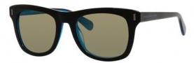 Marc by Marc Jacobs MMJ 432/S Sunglasses Sunglasses - 07ZR Black Blue (3U khaki mirror blue lens)