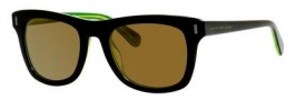 Marc by Marc Jacobs MMJ 432/S Sunglasses Sunglasses - 07ZJ Black Green (VP gold mirror lens)