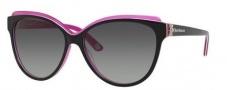 Juicy Couture Juicy 575/S Sunglasses Sunglasses - 0FL8 Black Floral Pink (Y7 gray gradient lens)