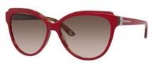 Juicy Couture Juicy 575/S Sunglasses Sunglasses - 01L9 Red Havana (Y6 brown gradient lens)