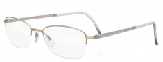 Silhouette Illusion Nylor 4453 Eyeglasses Eyeglasses - 6053 Gold Silver / Crystal Gold