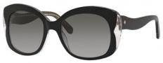 Kate Spade Jakalyn/S Sunglasses Sunglasses - 0Y05 Black Glitter (F8 gray gradient lens)