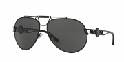 Versace VE2160 Sunglasses Sunglasses - 100987 Black / Grey
