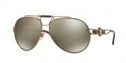 Versace VE2160 Sunglasses Sunglasses - 13485A Bronze / Light Brown Mirror Dark Gold