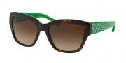 Coach HC8139 Sunglasses L110 Sunglasses - 528513 Dark Tortoise/Green / Dark Brown Gradient