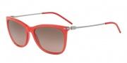 Emporio Armani EA4051 Sunglasses Sunglasses - 538014 Opal Coral / Brown Gradient Pink