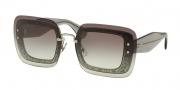 Miu Miu 01RS Sunglasses Sunglasses - UES0A7 Transparent Grey Glitter / Grey Gradient