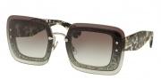 Miu Miu 01RS Sunglasses Sunglasses - DHE0A7 Transparent Grey Glitter / Grey Gradient