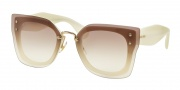 Miu Miu 04RS Sunglasses Sunglasses - 7S31L0 Ivory / Clear Gradient Brown
