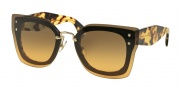 Miu Miu 04RS Sunglasses Sunglasses - NAI0A3 Top Black/Light Havana / Orange Gradient Light Green