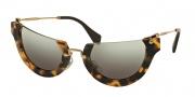 Miu Miu 11QS Sunglasses Sunglasses - HAN4N2 Sand Yellow Havana / Grey Gradient