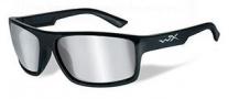 Wiley X WX Peak Sunglasses Sunglasses - Gloss Black / Grey Silver Flash