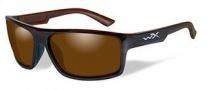 Wiley X WX Peak Sunglasses Sunglasses - Tortoise / Polarized Amber Gloss