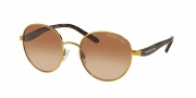 Michael Kors MK1007 Sunglasses Sadie III Sunglasses - 100413 Gold / Smoke Gradient