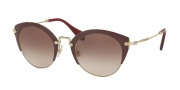 Miu Miu 53RS Sunglasses Sunglasses - UA50A6 Amaranth/Pale Gold / Brown Gradient