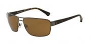 Emporio Armani EA2031 Sunglasses Sunglasses - 311083 Matte Gunmetal / Polarized Brown