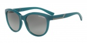 Armani Exchange AX4051S Sunglasses Sunglasses - 819011 Green / Grey Gradient