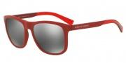Armani Exchange AX4049S Sunglasses Sunglasses - 81846G Red / Grey Mirror Silver