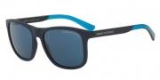 Armani Exchange AX4049S Sunglasses Sunglasses - 818380 Matte Blue / Blue