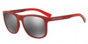 Armani Exchange AX4049SF Sunglasses Sunglasses - 81846G Matte Red / Grey Mirror Silver