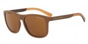 Armani Exchange AX4049SF Sunglasses Sunglasses - 818513 Matte Champagne / Brown Gradient